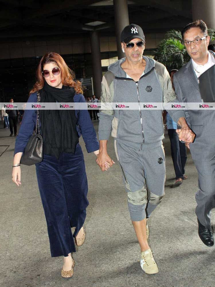Akshay Kumar and Twinkle Khanna spotted after returning from New York