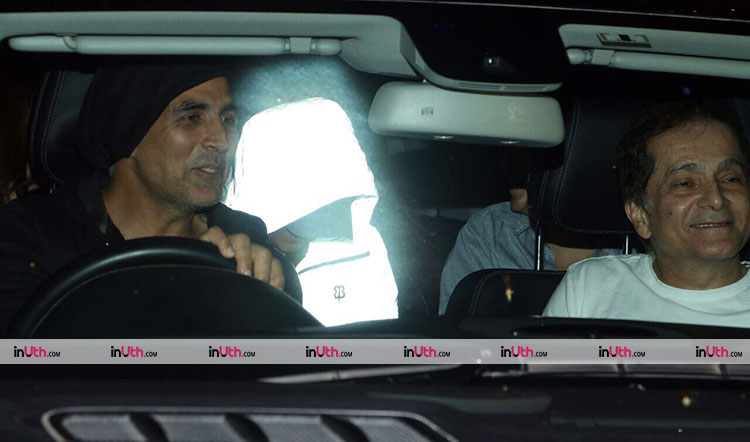 Akshay Kumar's movie night with family