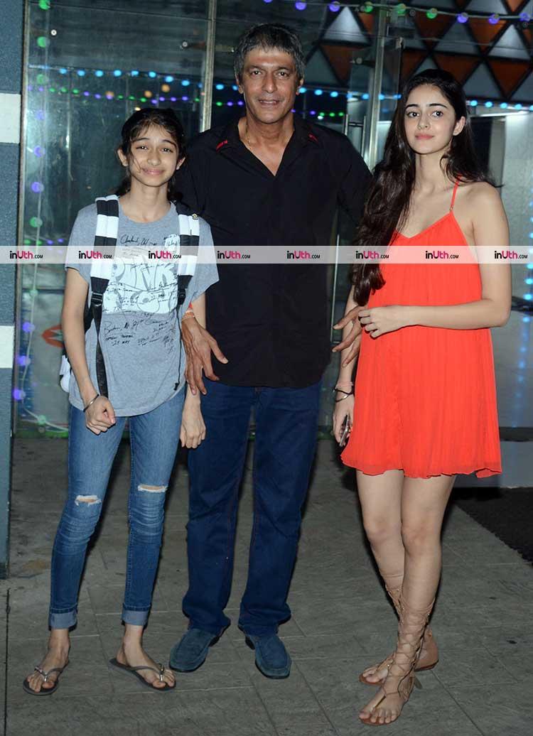 Ananya Pandey spotted at Sanjay Kapoor's Diwali party
