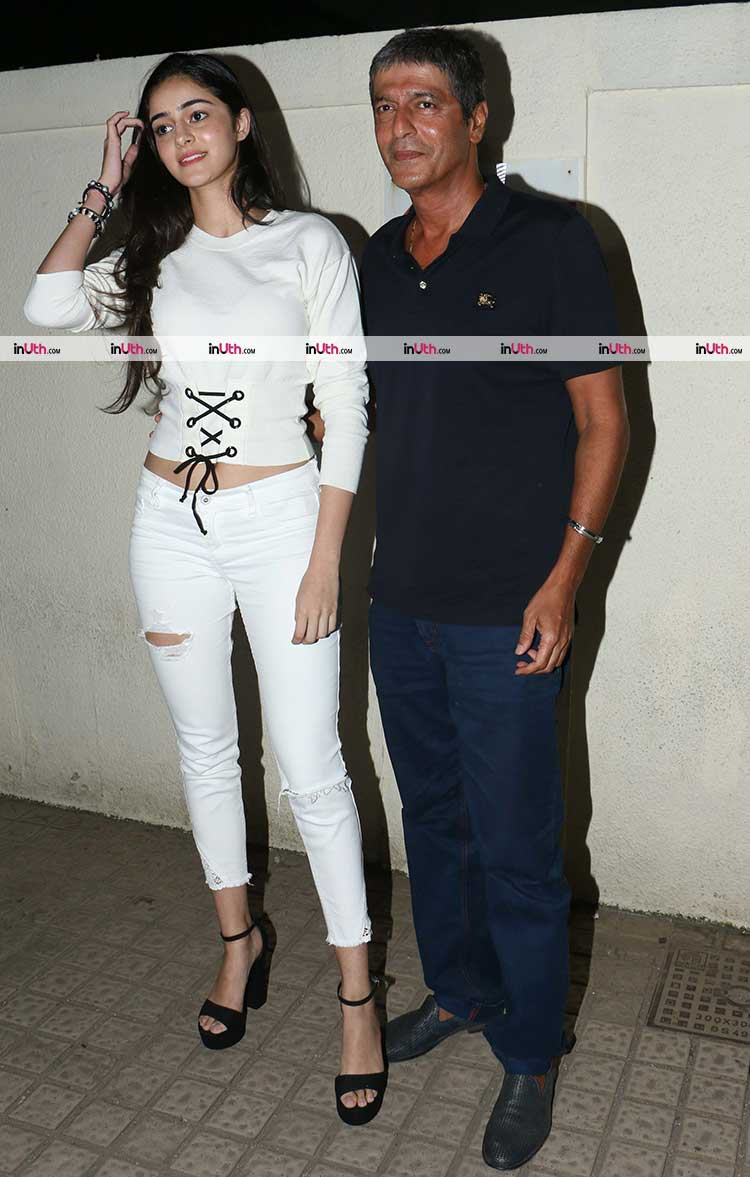 Ananya Pandey spotted with father Chunky Pandey