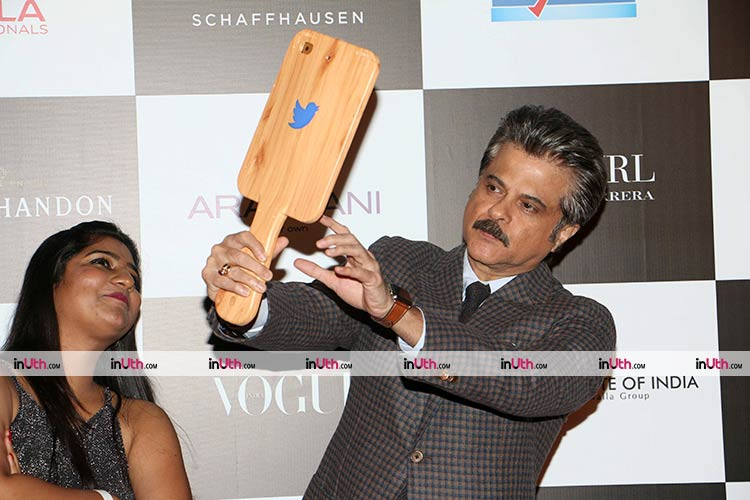 Anil Kapoor having a moment of self-love at Vogue Women of the Year Awards