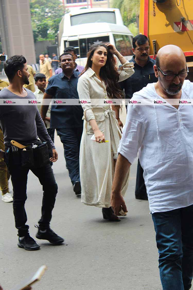 Kareena Kapoor snapped on the sets of Veere Di Wedding