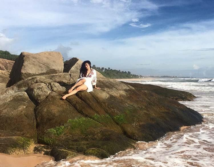 Mouni Roy looks getting the best hugs in Sri Lanka