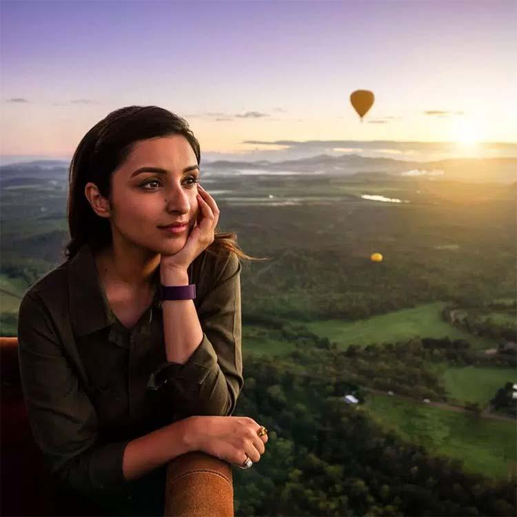 Parineeti Chopra enjoying a hot air balloon ride in Australia