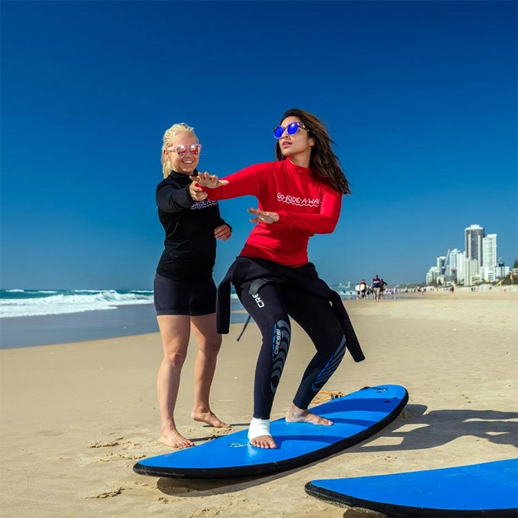 Parineeti Chopra tries surfing in Australia