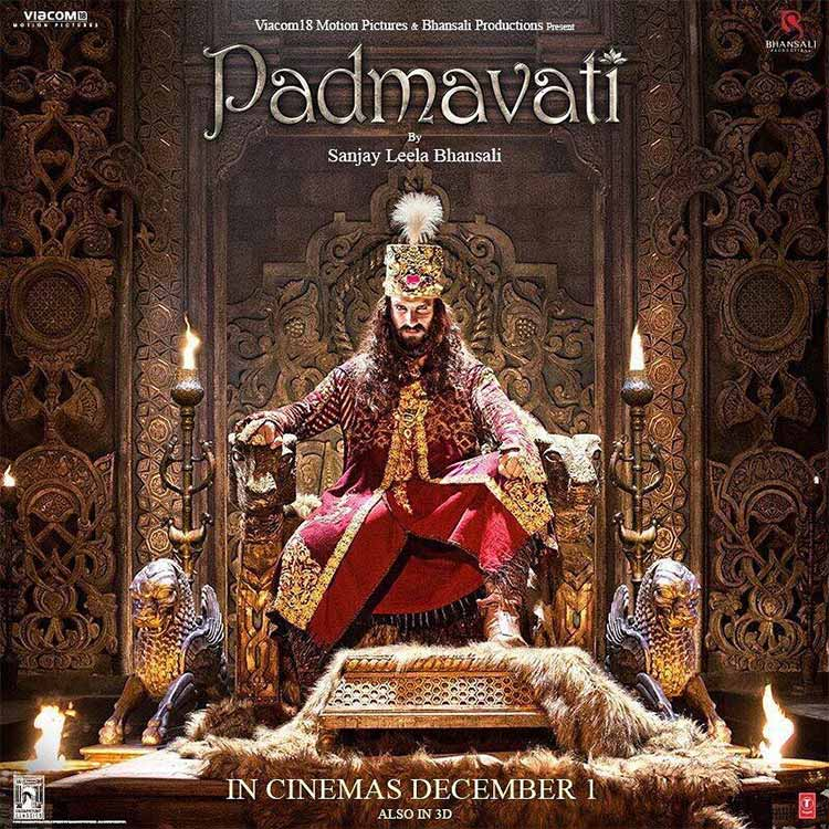 Ranveer Singh reeks of authority in this new poster from Padmavati