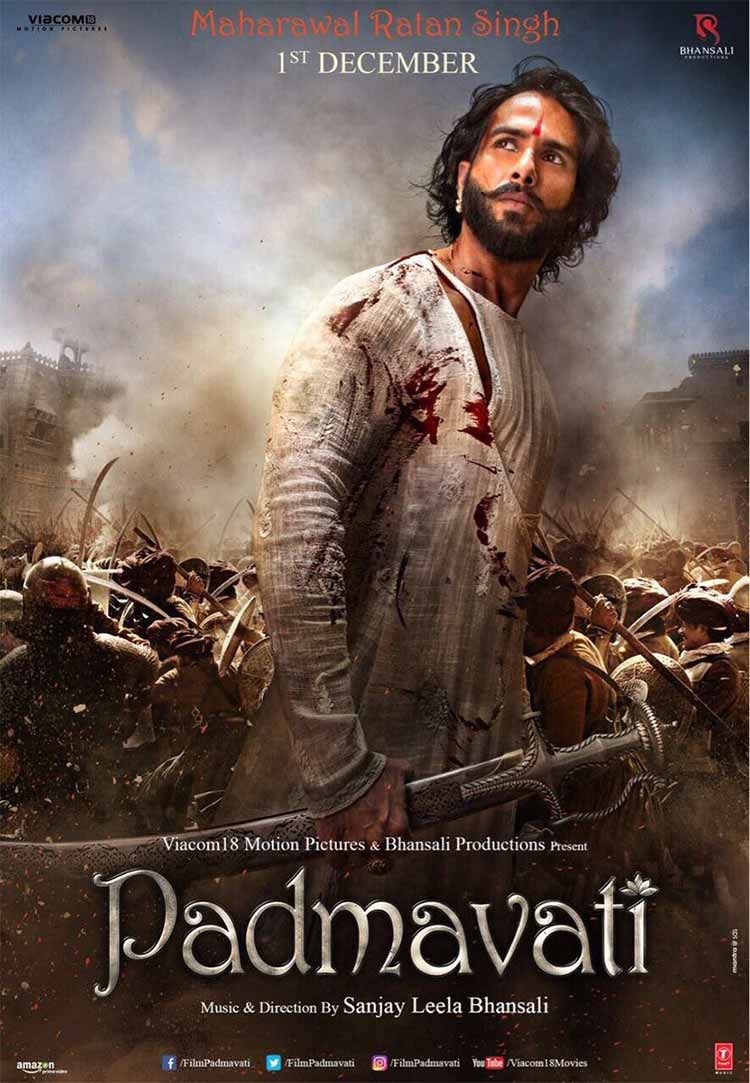 Shahid Kapoor looks battle ready on new Padmavati Poster