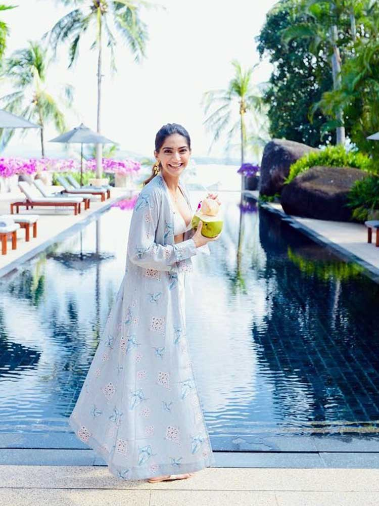 Sonam Kapoor chilling in Phuket before cameras for Veere Di Wedding roll