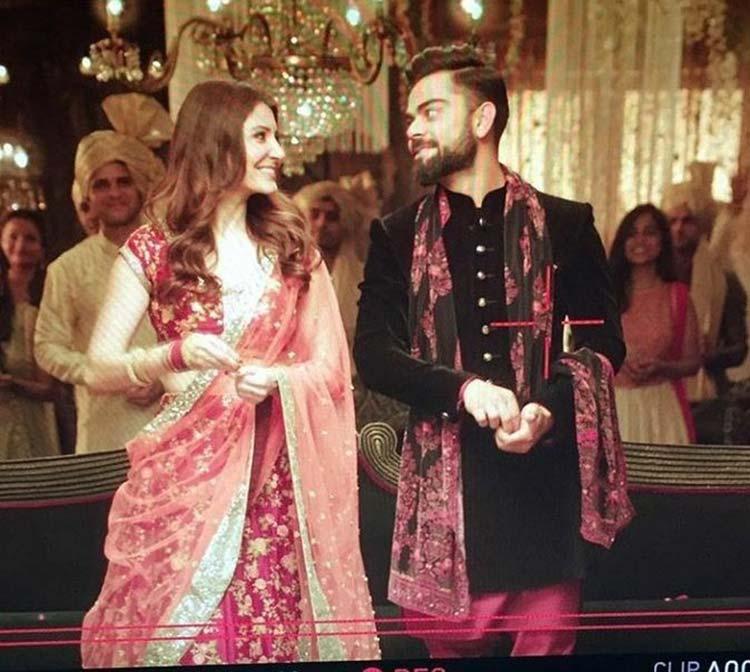 Virat Kohli and Anushka Sharma shoot for an ad film
