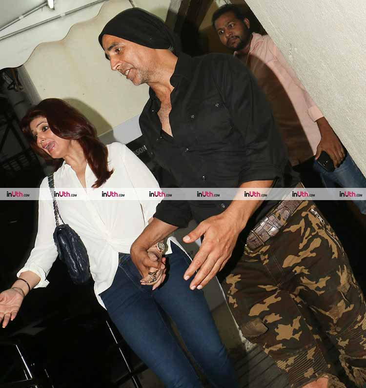 Akshay Kumar and Twinkle Khanna spotted after a dinner date
