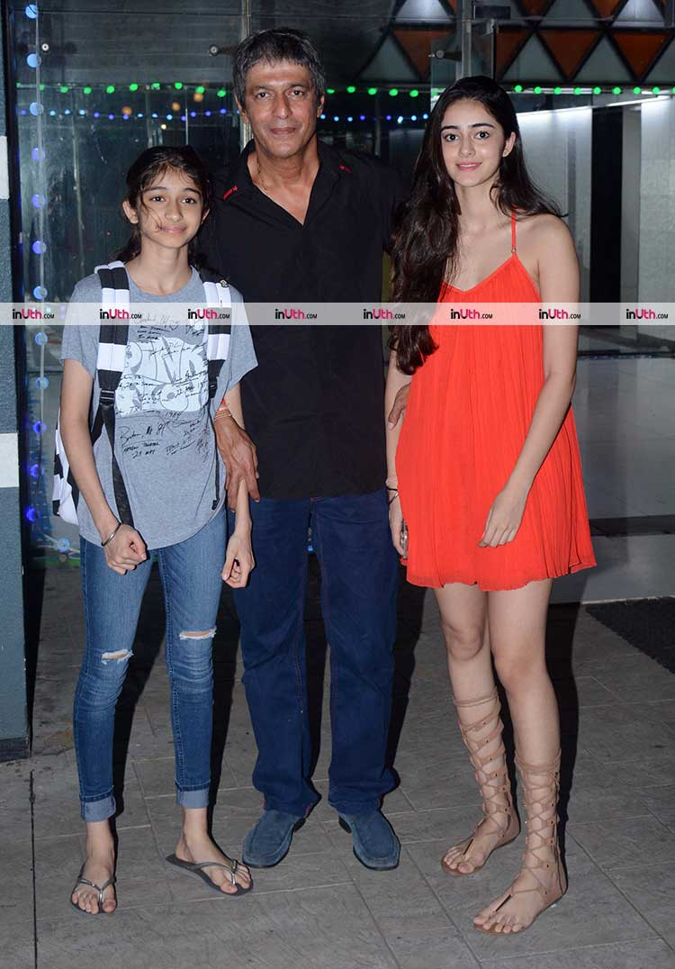 Ananya Pandey spotted with father Chunky Pandey at a Diwali party