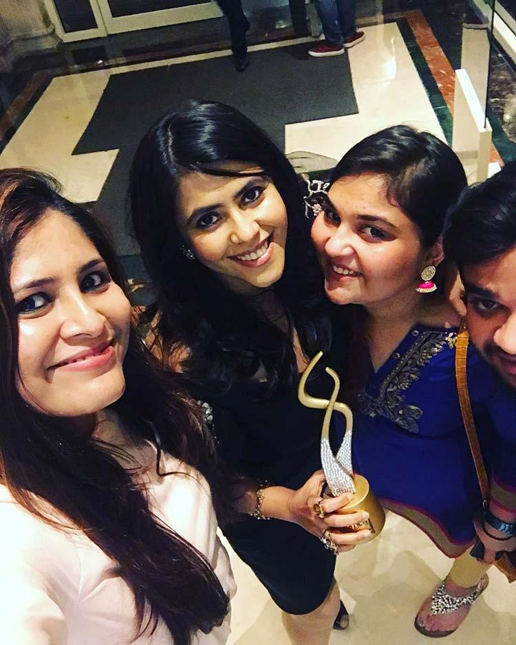 Ekta Kapoor with her team post the award win