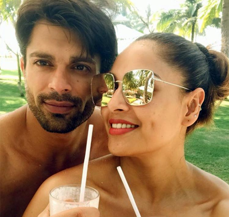 Karan Singh Grover and Bipasha Basu romancing in Goa