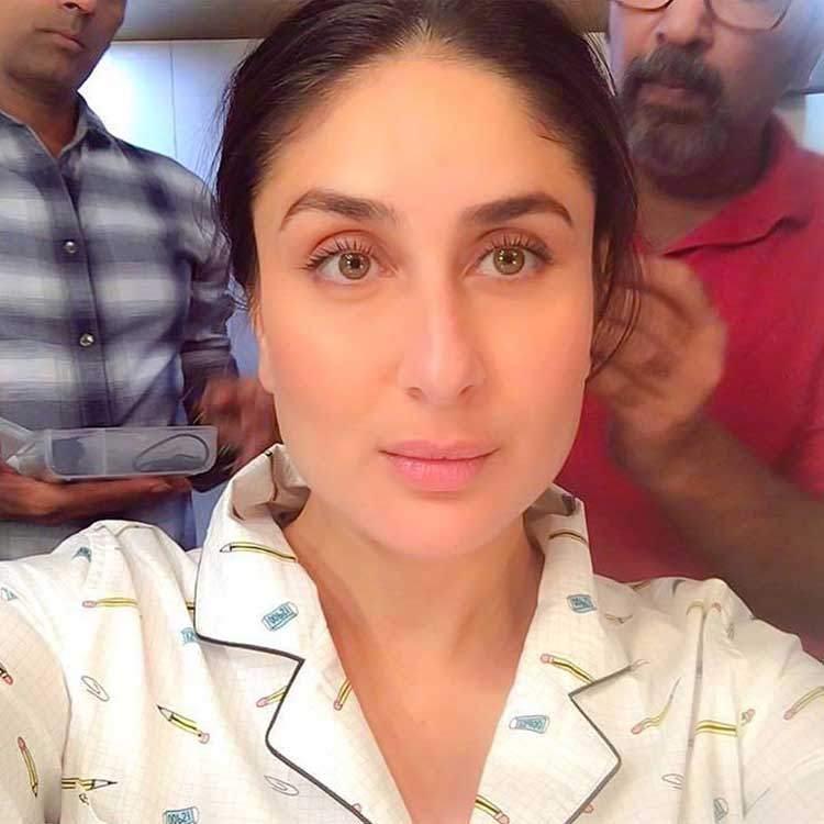 Kareena Kapoor getting ready for her Veere Di Wedding shot