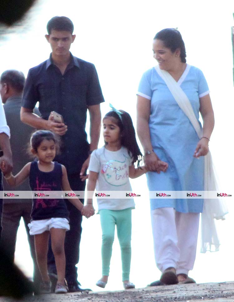 Nitara Kumar goes out on an evening walk with her friend