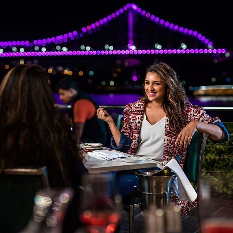Parineeti Chopra enjoying a sumptuous dinner in Brisbane
