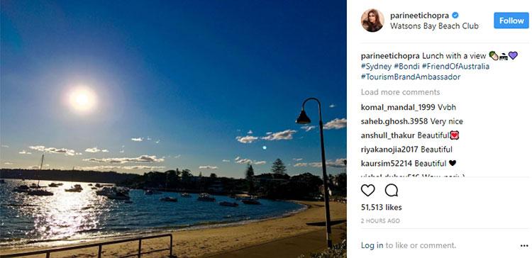 Parineeti Chopra is sharing stunning views from Australia