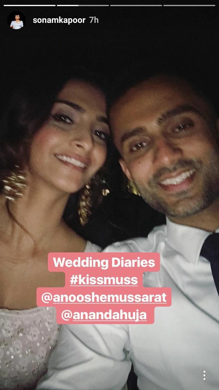 Sonam Kapoor with rumoured beau Anand Ahuja in London