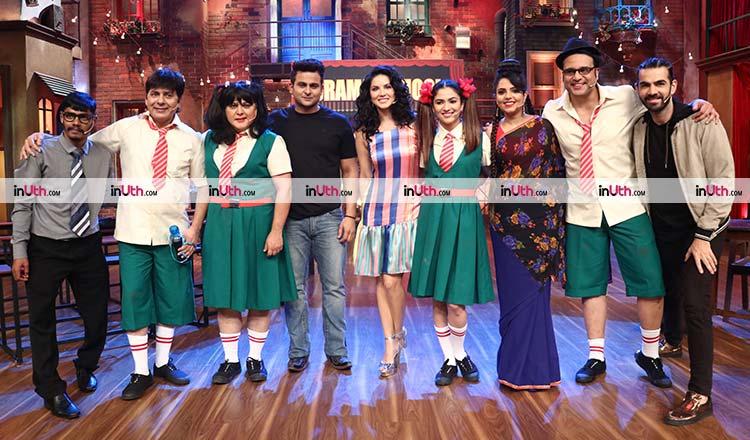 Sunny Leone with the team of The Drama Company