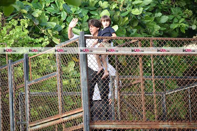 AbRam with daddy Shah Rukh Khan on Eid