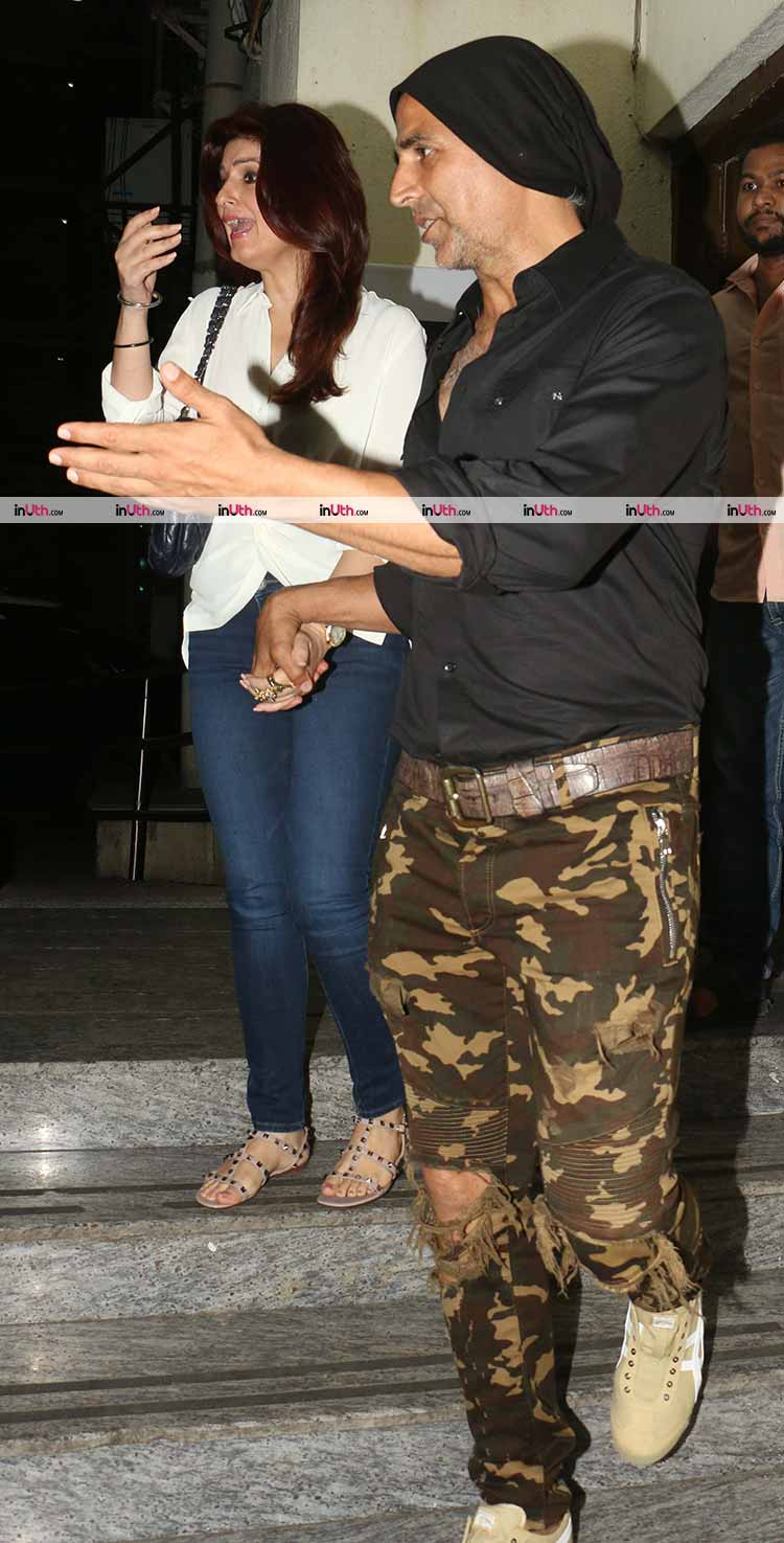 Akshay Kumar and Twinkle Khanna snapped in Mumbai