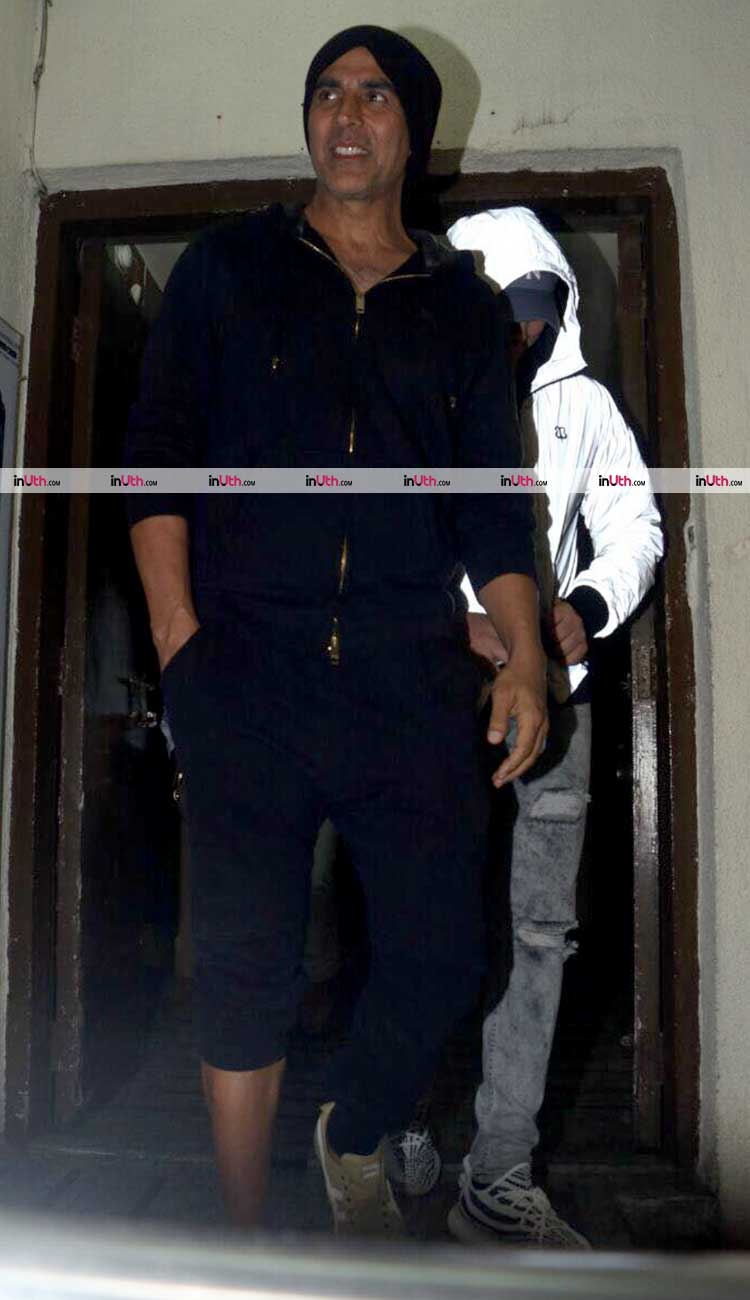 Akshay Kumar spotted with son Aarav
