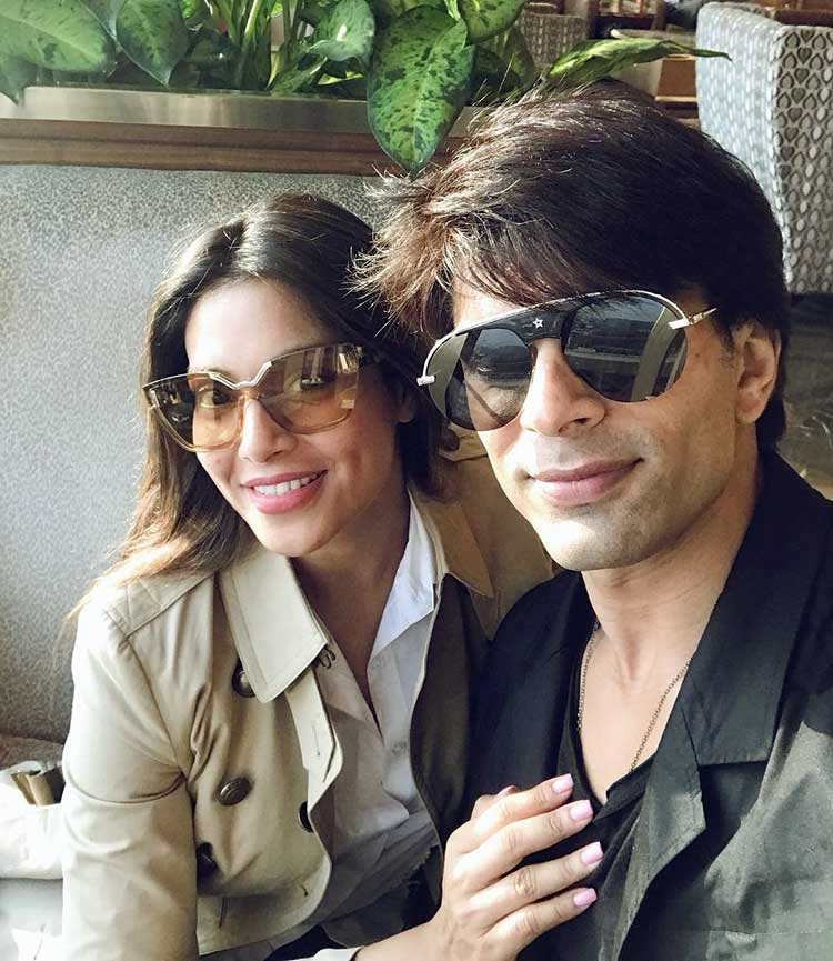 Bipasha Basu and Karan Singh Grover on their way to Dubai