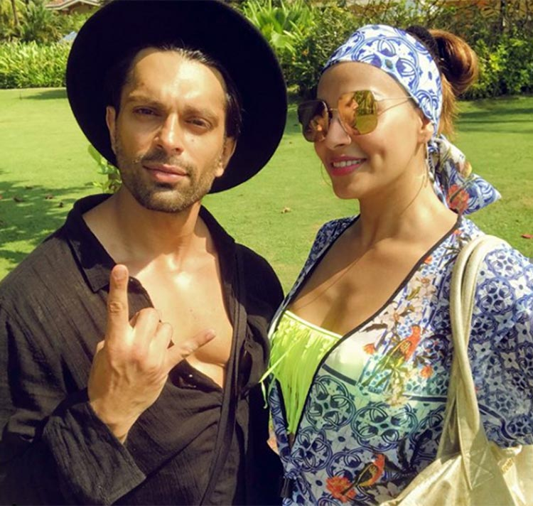 Bipasha Basu and Karan Singh Grover sunbathing in Goa