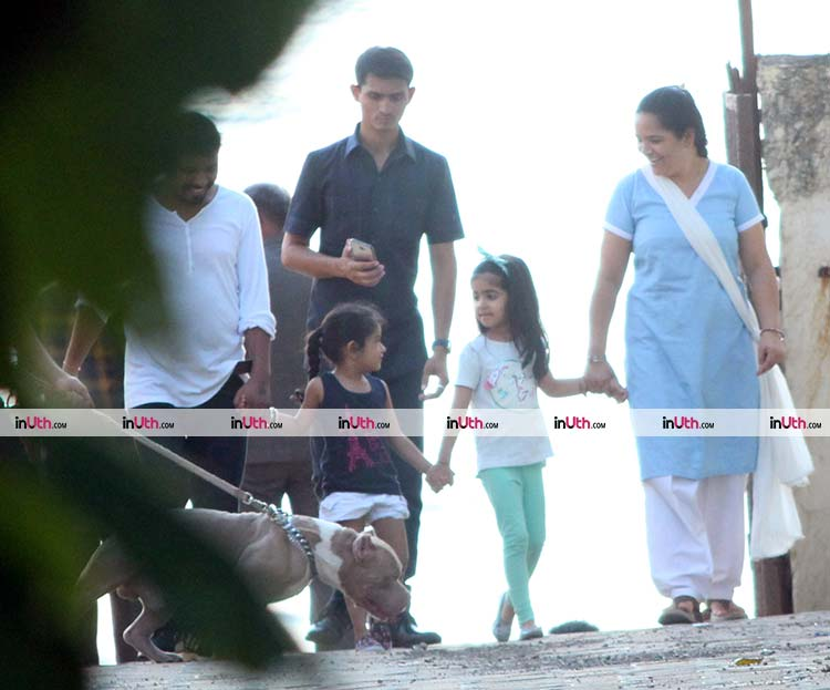 Cute Nitara Kumar with her little friend