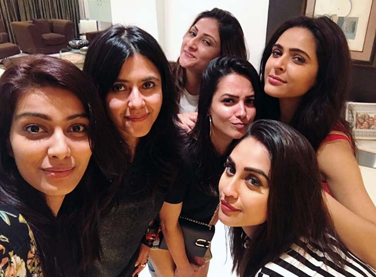 Ekta Kapoor partying with her gang of girls