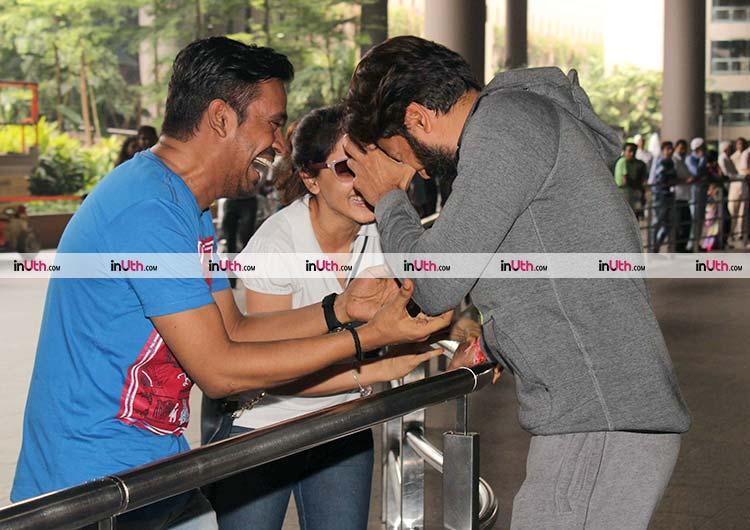 Genelia D'Souza and Riteish Deshmukh share a joke