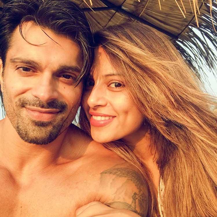 Karan Singh Grover and Bipasha Basu on the beach