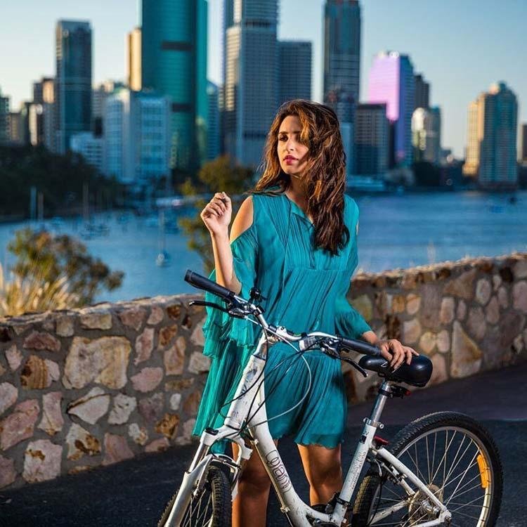 Parineeti Chopra tries cycling in Brisbane