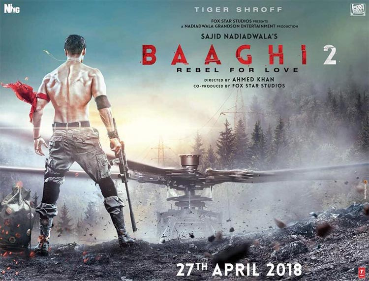 Tiger Shroff looks lethal in the first poster of Baaghi 2
