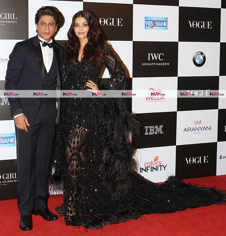 Aishwarya Rai and Shah Rukh Khan on the red carpet