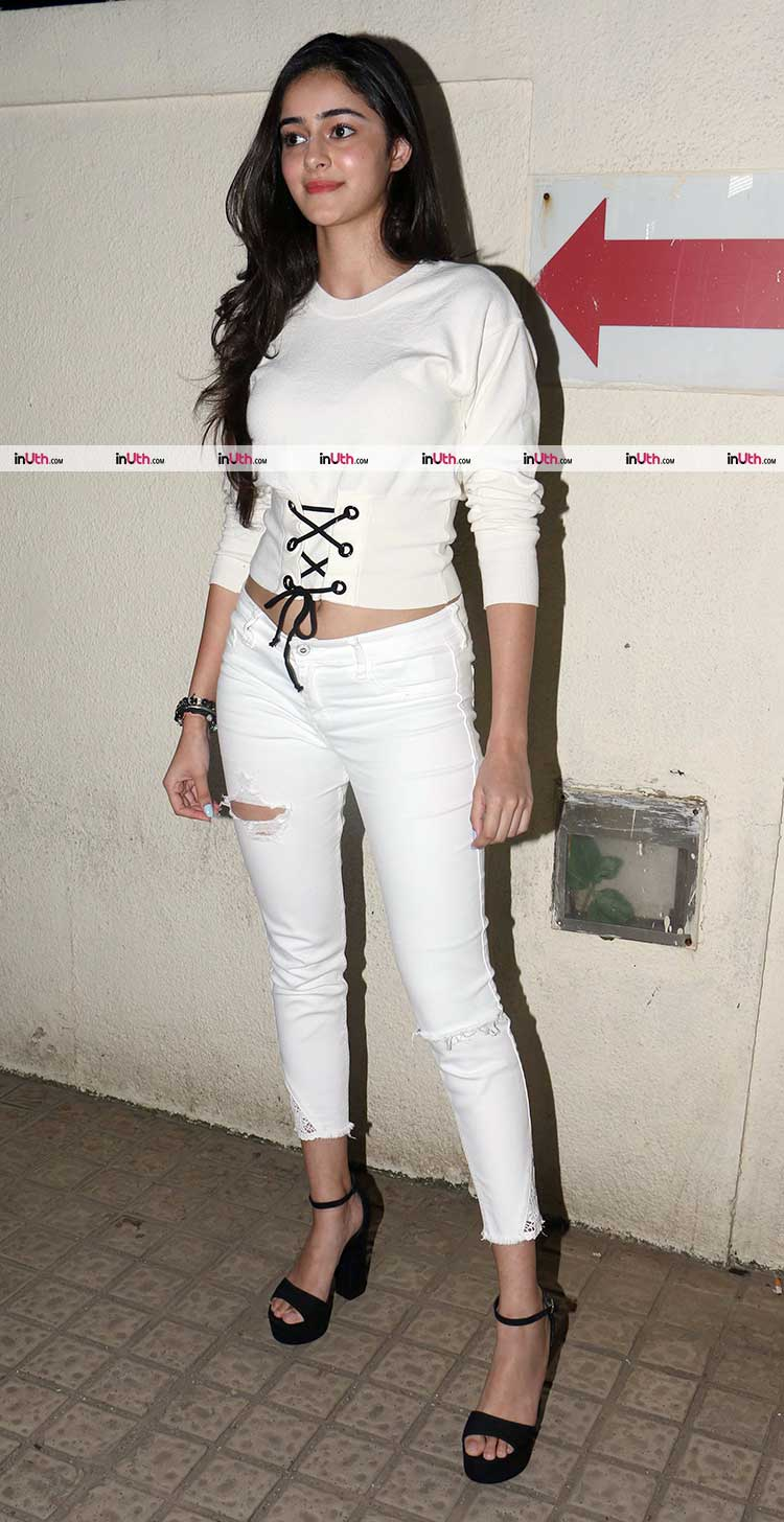Ananya Pandey spotted at a theatre in Mumbai
