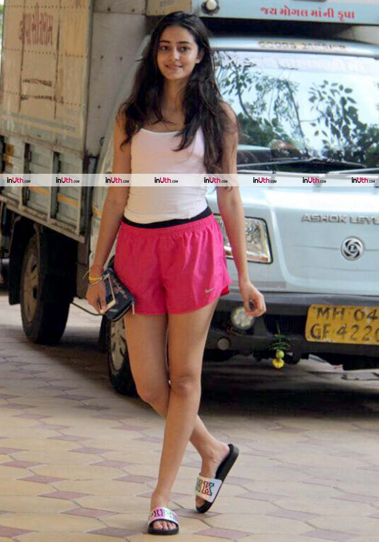 Ananya Pandey spotted in Bandra on Sunday