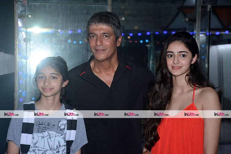 Ananya Pandey spotted with father and sister on Tuesday