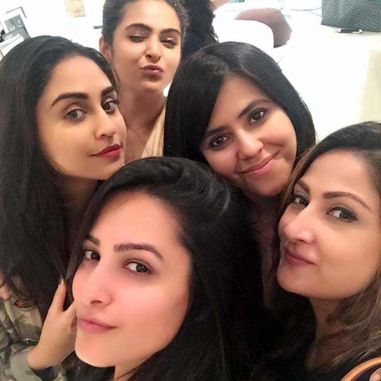 Ekta Kapoor partying with her girl friends
