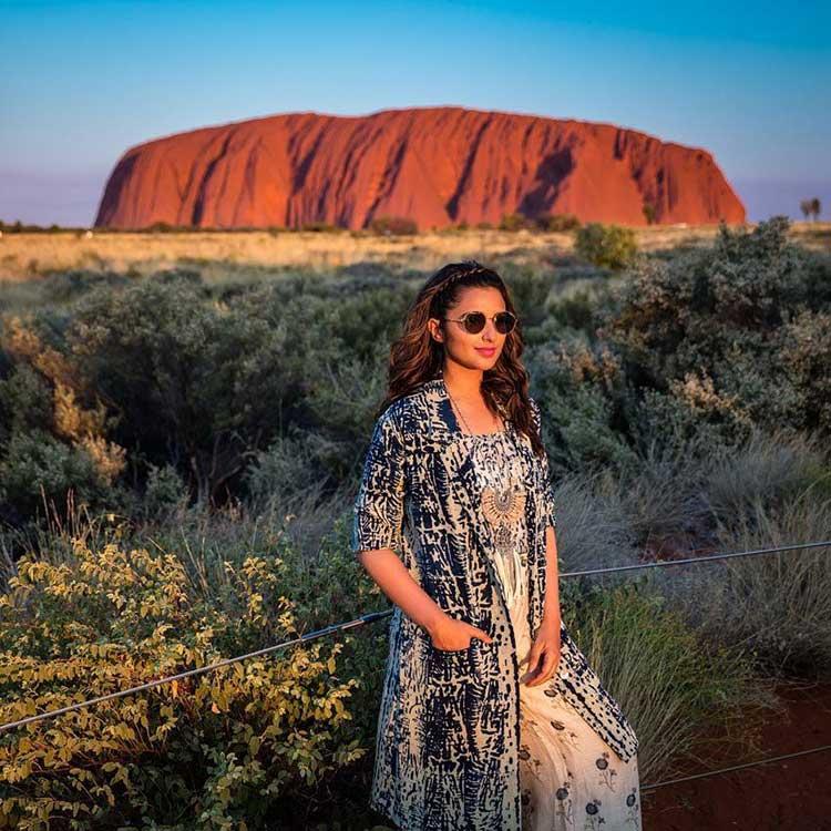 Parineeti Chopra at the Ayers Rock in Australia