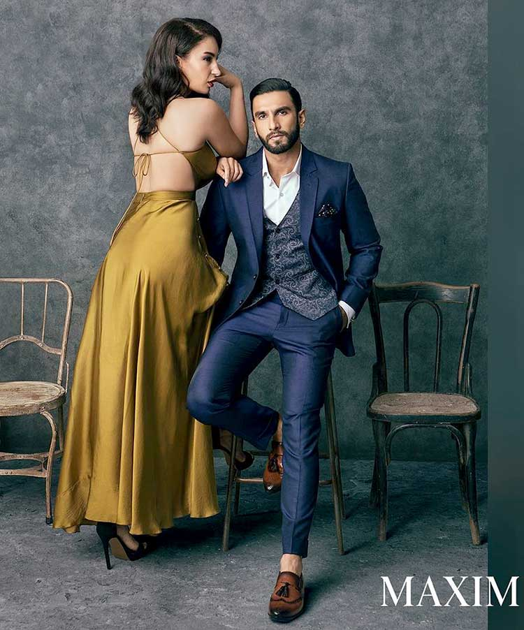 ranveer singhs latest photoshoot for maxim with elena ...