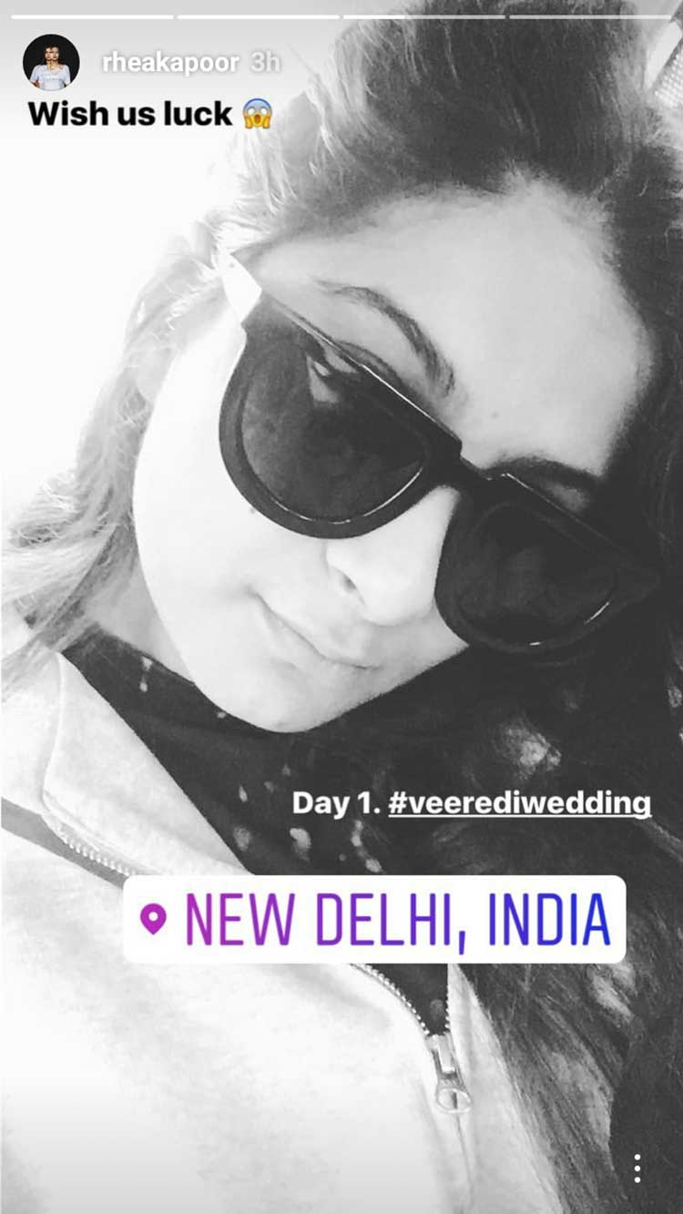 Rhea Kapoor is feeling fresh and pumped up in Delhi