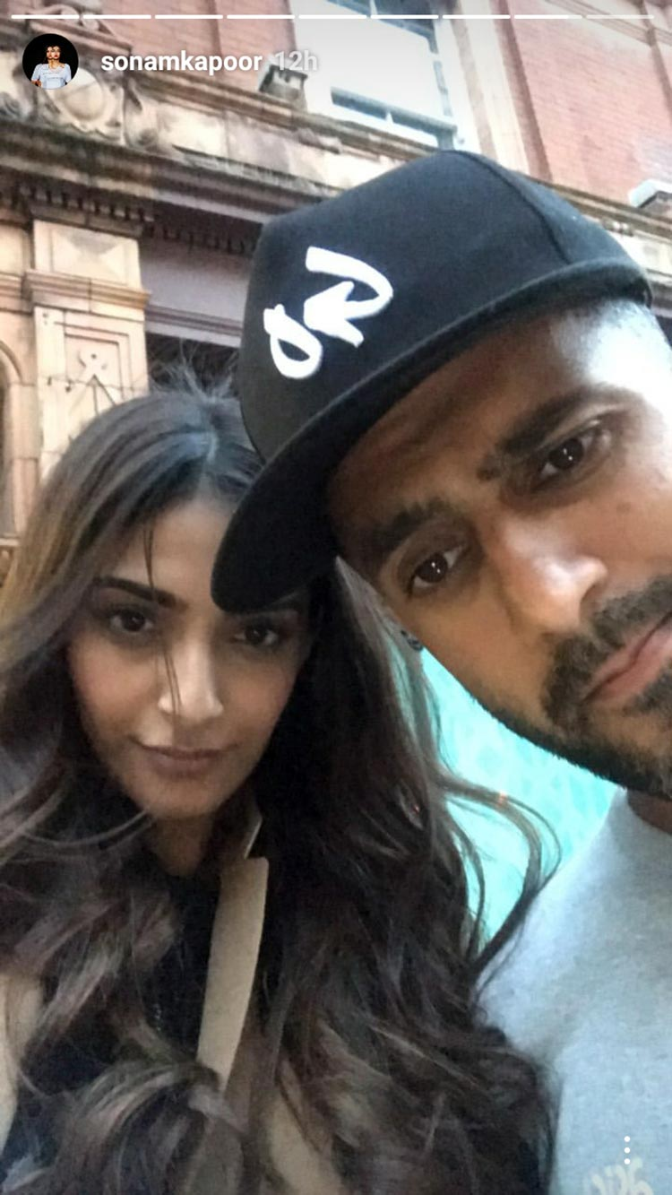 Sonam Kapoor and Anand Ahuja chilling in London