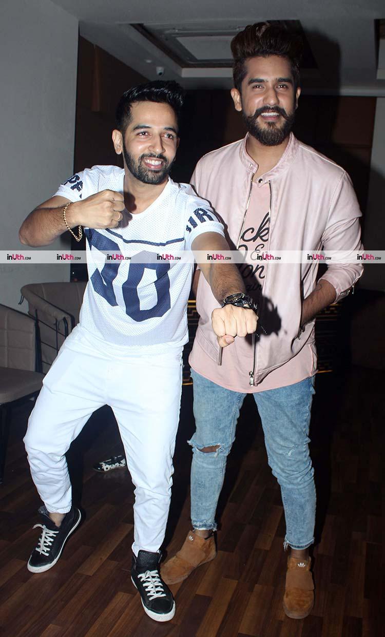 Suyyash Rai and Ashish Sharma at Sargun Mehta's birthday party
