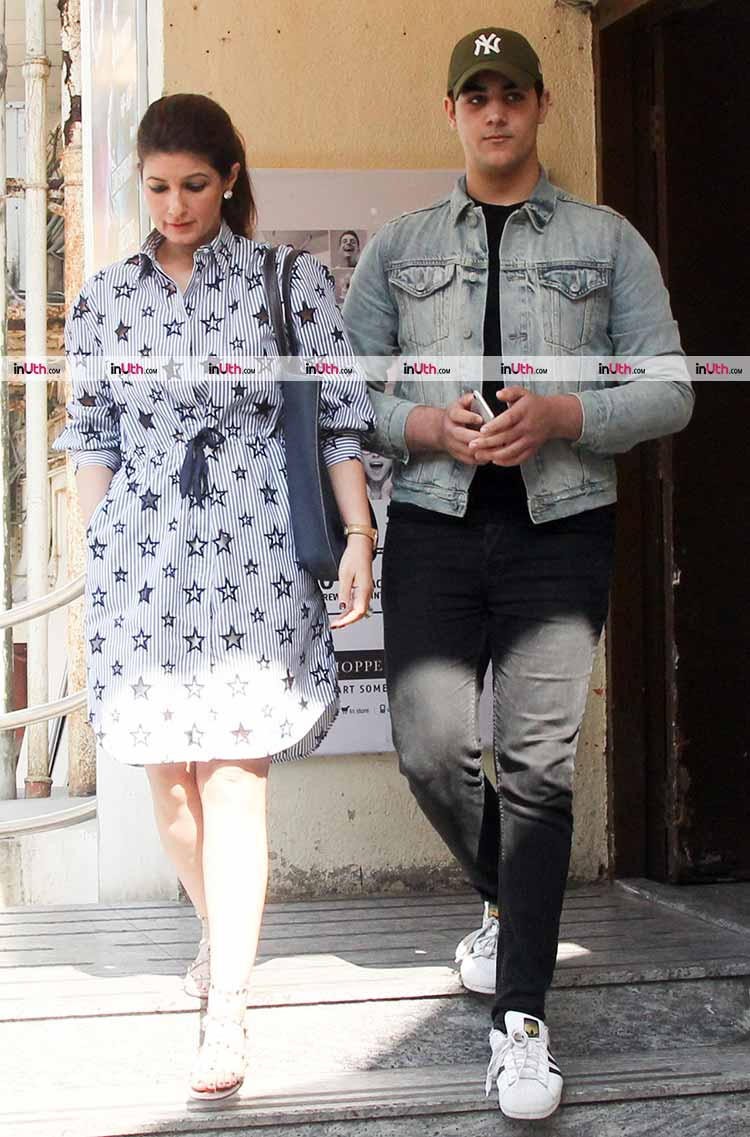 Twinkle Khanna spotted with son Aarav on Sunday
