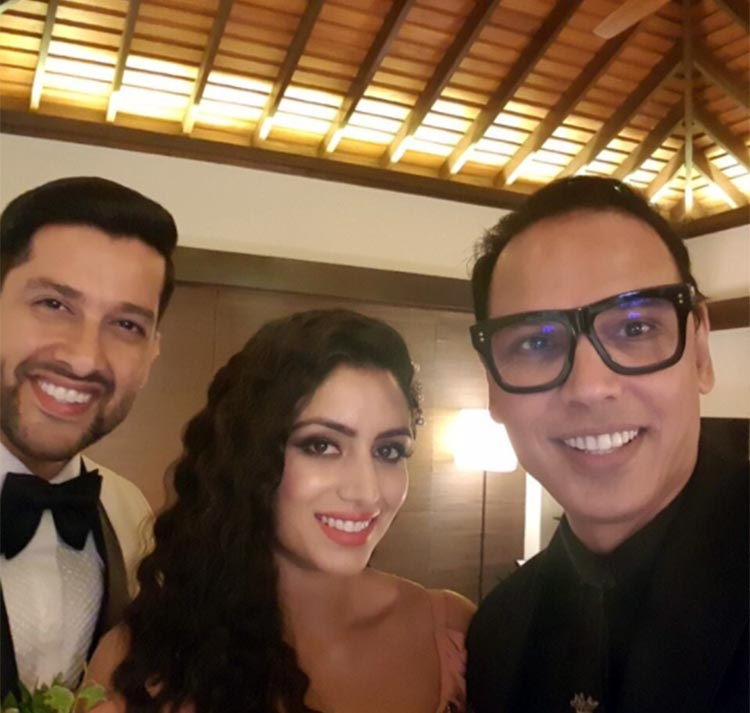 Aftab Shivdasani, Nin Dusanj, Troy Costa at the pre wedding party