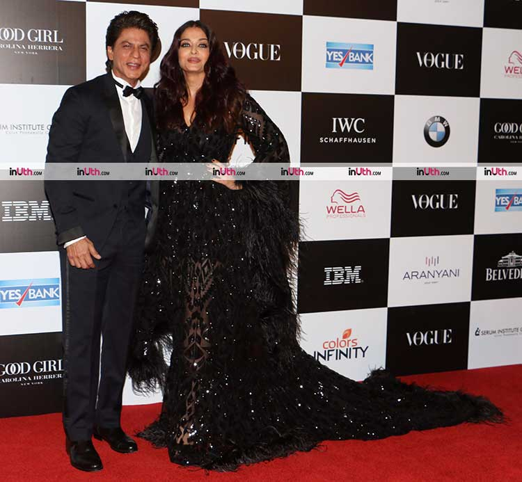 Aishwarya Rai with Shah Rukh Khan at recent awards