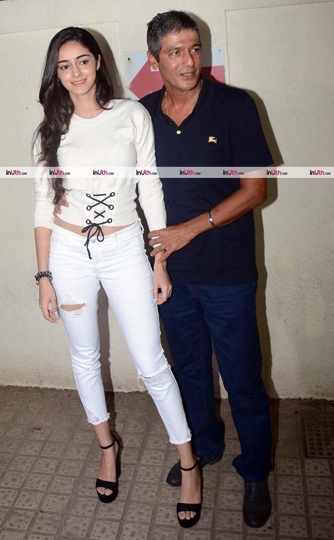 Ananya Pandey spotted at the screening of Judwaa 2