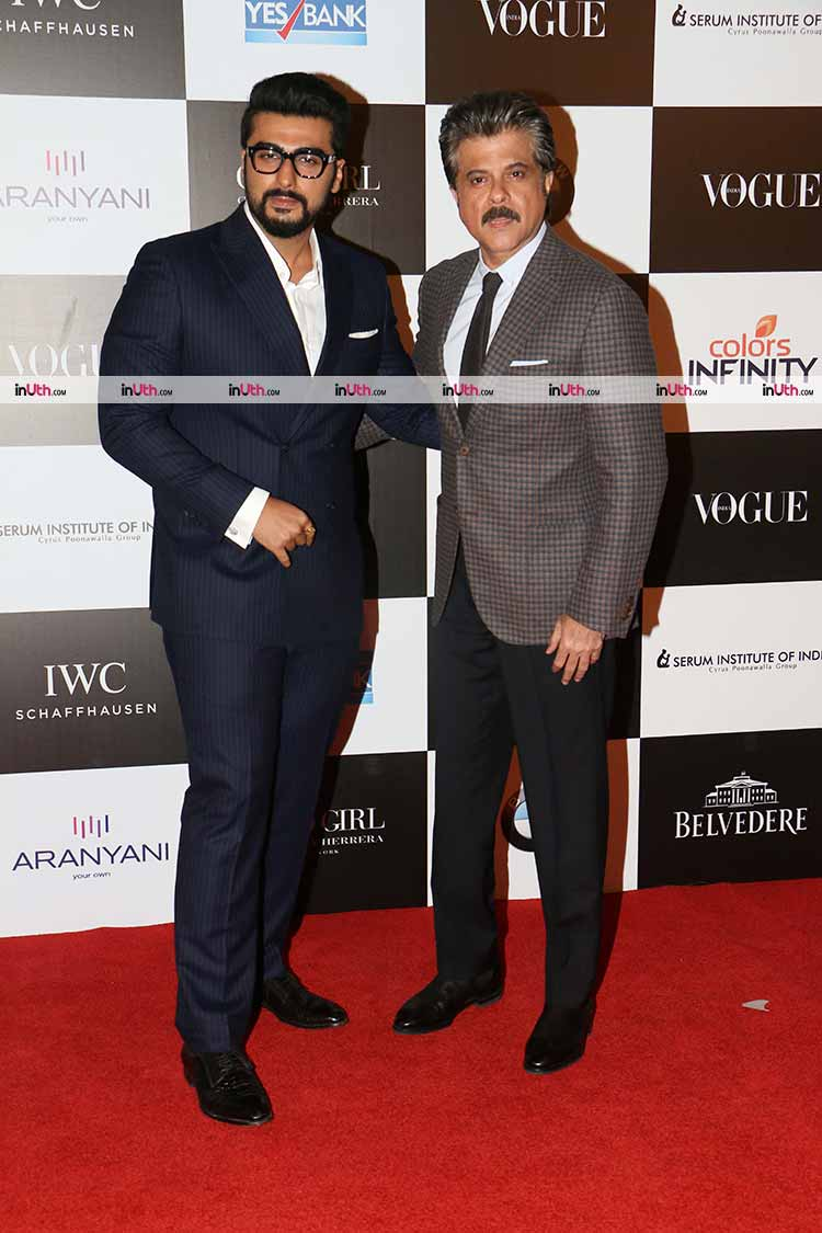 Anil Kapoor and Arjun at the Vogue Women of the Year Awards 2017