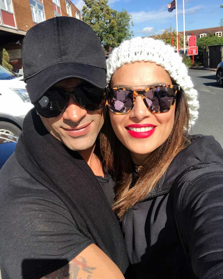 Bipasha Basu and Karan Singh Grover in England